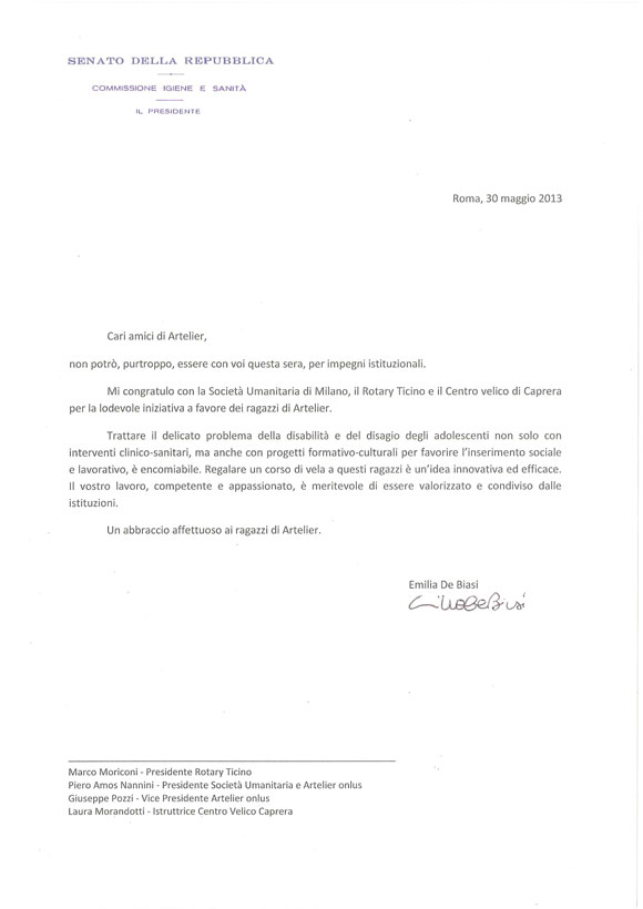 Artelier-messaggio-senatrice-De-Biasi